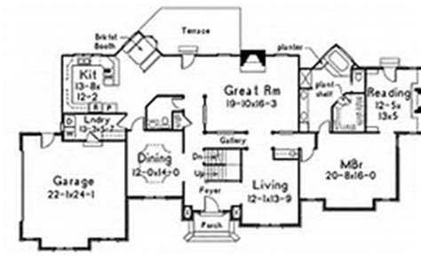 large 1 story house plans large one story house plan house design plans