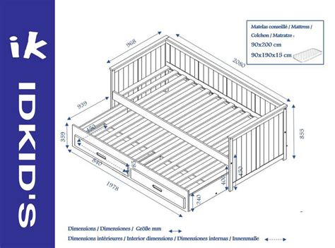 colchones 90x200 comprar cama nido juvenil de 90x200cm con colchones y caj 243 n