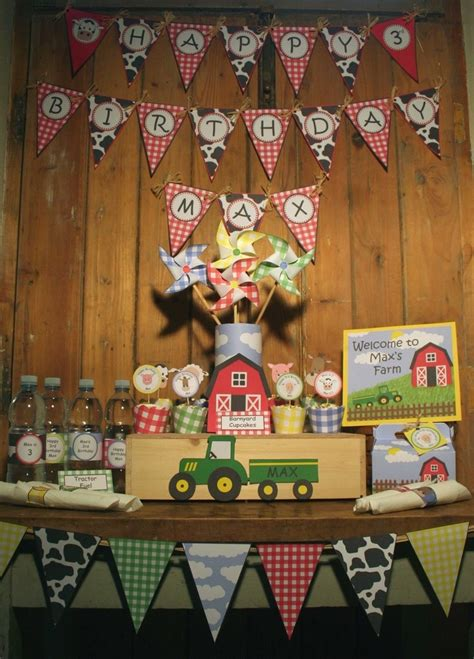 farm themed birthday decorations 390 best images about farm birthday party on pinterest