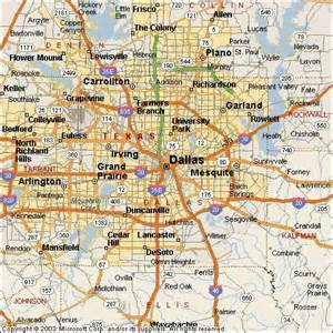 dallas on map dallas maps