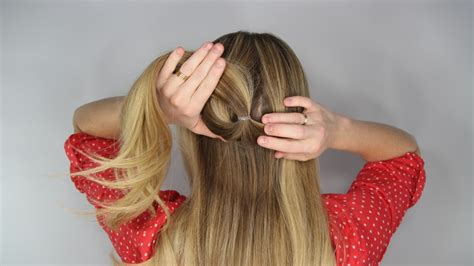 how to stack hair step by step loose braid tutorial the stacked topsy tail braid