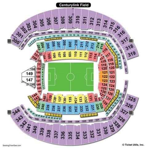 centurylink field seating map centurylink seating chart with rows brokeasshome