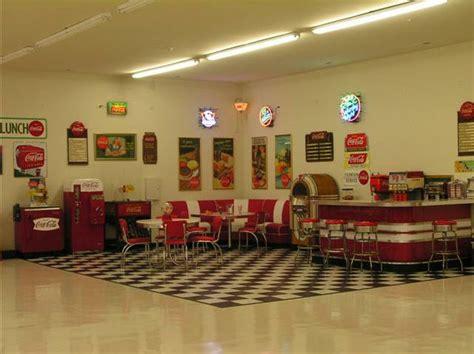 Retro Kitchen Decor Ideas lewis retro garage bar diner booths jukebox soda machine