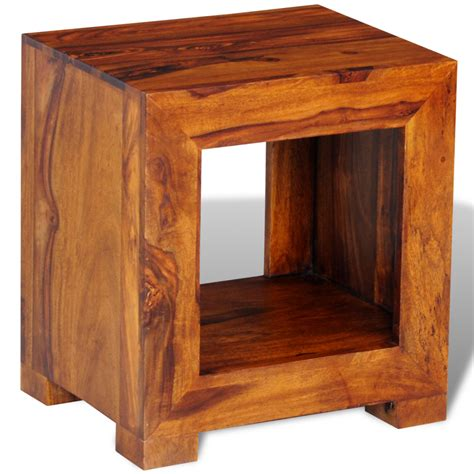 Wood Side Table Vidaxl Co Uk Sheesham Solid Wood Side Table 37 X 29 X 40 Cm