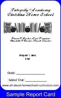 make a report card home school report card