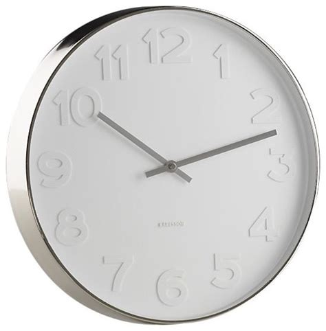 wall clock modern embossed numbers 15 quot wall clock modern clocks by