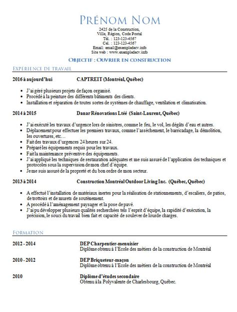Cv Modele Doc by Modele Cv Anglais Doc Document