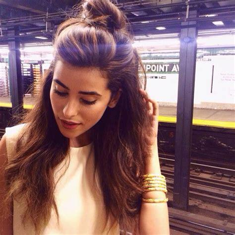 half bun hair the half bun hairstyle trend 2015 7 the fashion tag blog