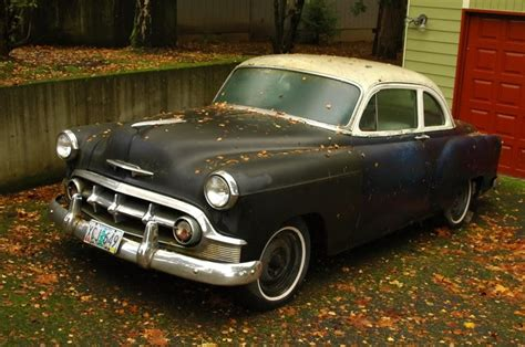 cars coupes sedans hatchbacks chevrolet old parked cars 1953 chevrolet bel air coupe