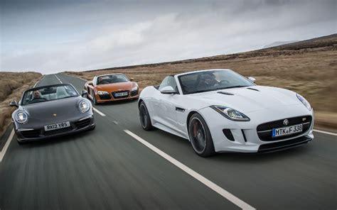 jaguar f type vs audi r8 vs porsche 911 automobile