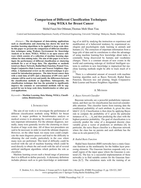 (PDF) Comparison of Different Classification Techniques