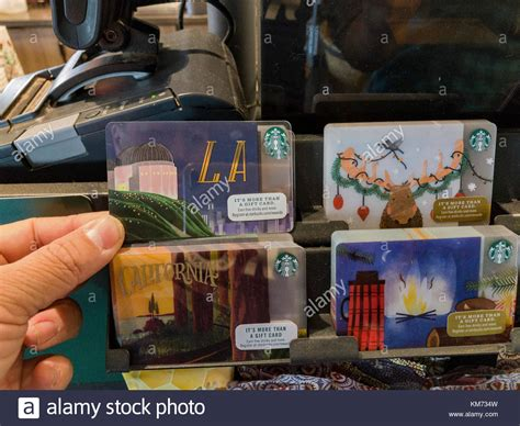 Los Angeles Gift Cards - starbucks card stock photos starbucks card stock images alamy