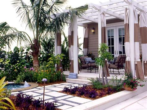 Pergola With Curtains White Wood Outdoor Spaces With Drapes