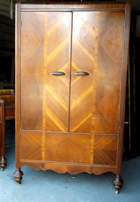 cedar armoire wardrobe 1920 s art deco waterfall wardrobe original condition