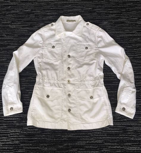 Safari Jacket White s balenciaga by nicolas ghesquiere white drawstring safari jacket for sale at 1stdibs