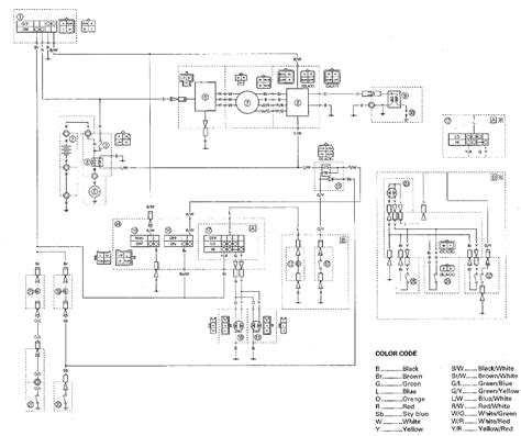 yfm250x wiring diagrams yamaha tracker atv