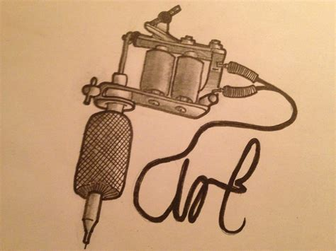 tattoo gun drawing simple gun drawing www pixshark images