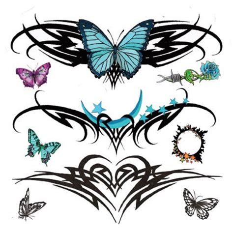 cute lower back butterfly tattoo beautiful lower back tattoos with tribal tattoos butterfly