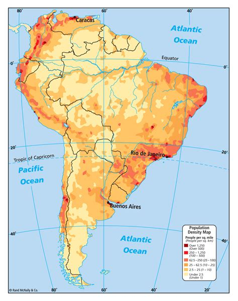 south america dot map population density of south america 948x1200 mapporn