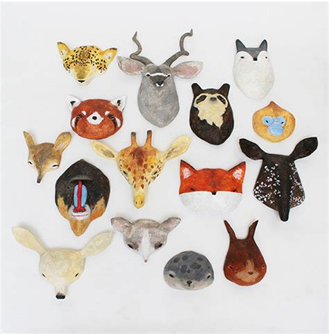 How To Make Paper Mache Animals - let s all get out our animal masks paper mache animals