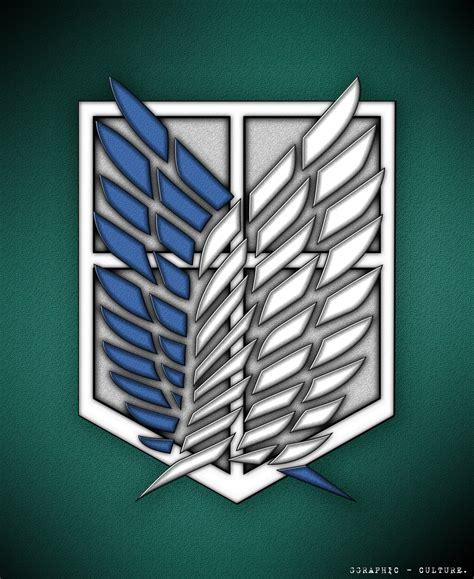 Snk Scouting Legion Emblem Frame scouting legion wallpaper wallpapersafari