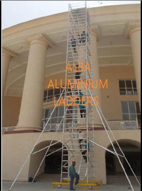 aluminium mobile scaffolding aluminium mobile scaffolding ladder manufacturer exporter