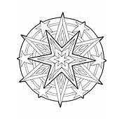 Mandala Christmas Stars Outline Coloring Pages  Best