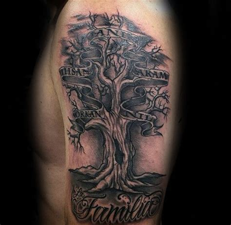 tattoo family tree with names 60 family tree tattoo designs for men kinship ink ideas