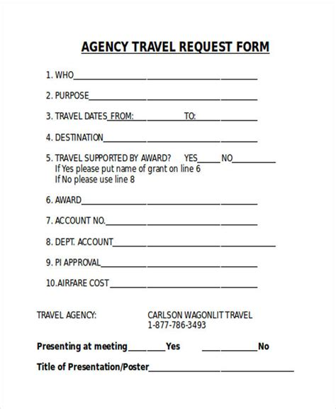 Credit Application Form Travel Agency Request Forms In Word