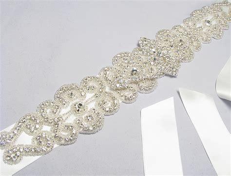 wedding dress sash rhinestone belt wedding by