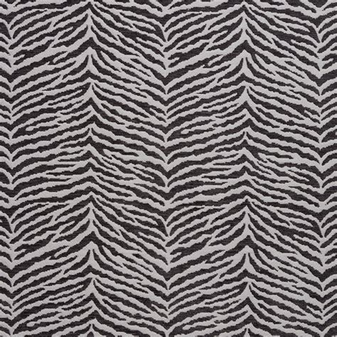 Black Chenille Upholstery Fabric by B0870e Black And Silver Woven Zebra Look Chenille