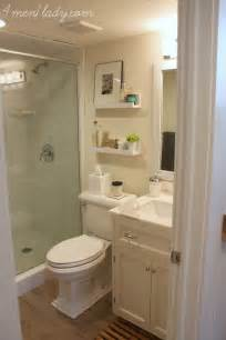 Updating Bathroom Ideas by Small Bathroom With Nice Finishes Diy Shelves Are A Nice