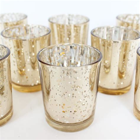 Candle In Candle Holder by Gold Mercury Glass Votive Candle Holder David Tutera 2