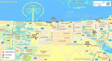 dubai uae map dubai tourist attractions map dubai map with tourist