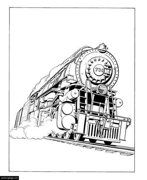 steam train coloring coloring pages