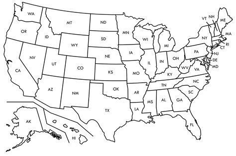 a blank map of the united states fill in the blank printable map of the united states