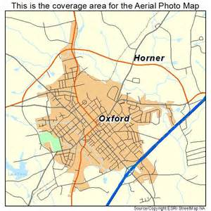 aerial photography map of oxford nc carolina