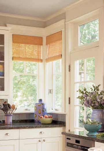window treatment ideas  corner windows home appliance