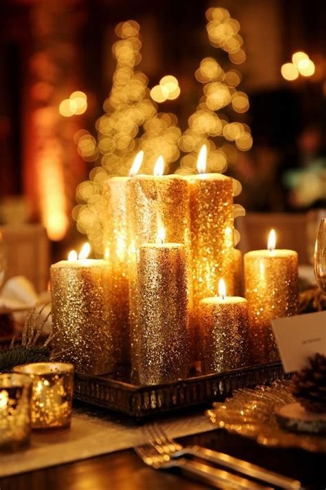 candle centerpieces for best 25 gold candles ideas on decorating