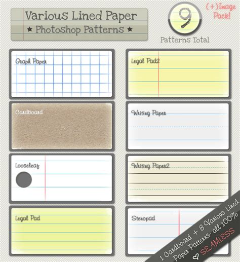 lined paper pattern lined paper patterns by kittenbella on deviantart