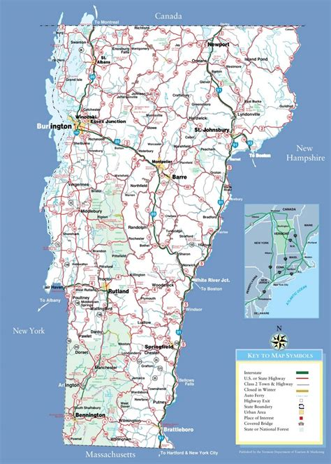 printable vermont road map large detailed tourist map of vermont with cities and towns