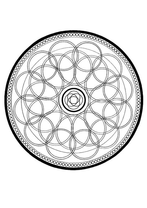 Circle Mandala Coloring Pages Hellokids Com Mandala Circles Coloring Pages