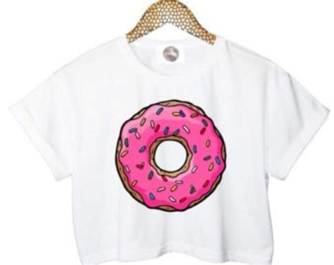 Donut Blouse shirt blouse top donut crop tops donut crop tops