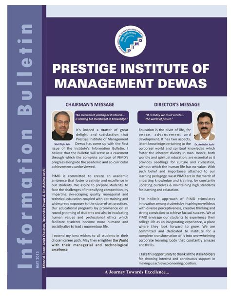 Information Management Mba by Prestige Institute Of Management Dewas Pimd Indore