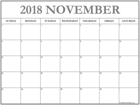 November 2018 Calendar 56 Calendar Templates Of 2018 Calendars Printable Calendar Blank Calendar 2018 Template