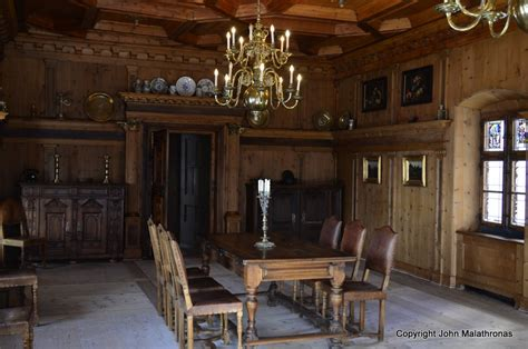 castle dining room tarasp castle