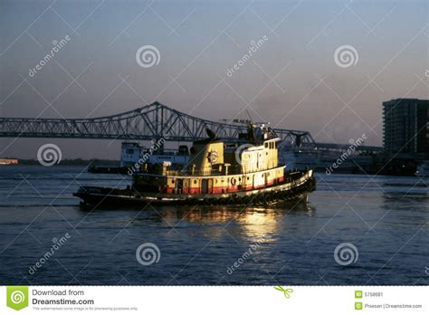 tugboat bridge tugboat and bridge stock image image 5758681