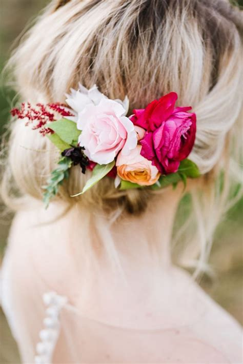 Wedding Guest Hair With Flowers by Autumn Orchard Inspiration Shoot Flower