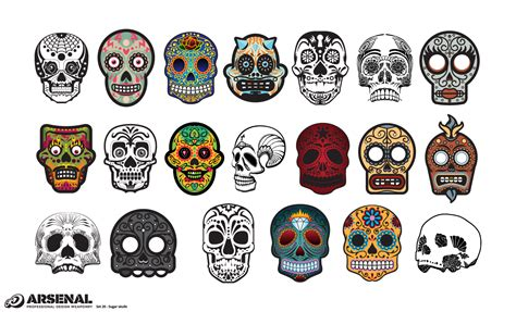 sugar skull adobe illustrator skull mexican sugar skull