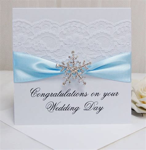 Wedding Card Congratulations by Personalised Snowflake Wedding Congratulations Card By